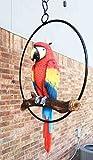 Ebros Patio Home Garden Hanging Scarlet Macaw