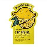 Tonymoly I'm Real Skin Care Facial Mask Sheet Package (Lemon - Brightening 10 Sheets)