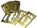 Brass Stencil Gothic Style Number Sets, Brass, 8 in, 13 per package
