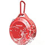 Tronsmart T4-Red Bluetooth Portable IP67 Water-Resistant Wireless Mini Speaker with 5W Driver, Built-in Mic, 6hrs Playtime for iPhone, Pool, Beach-Red