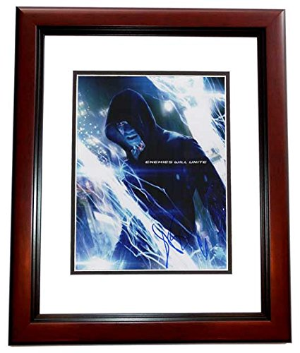 Jamie Foxx Autographed - Hand Signed The Amazing Spiderman 2 11x14 Photo MAHOGANY CUSTOM Frame - Guaranteed to pass PSA or JSA -