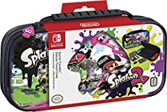 Protect and organize your Nintendo Switch in this Officially Nintendo Licensed Deluxe Travel Case. RDS Industries has manufactured this case to Nintendo's stringent and high standards. This Nintendo Switch case features Splatoon original game...