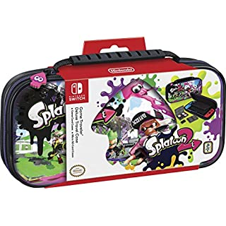 Officially Licensed Nintendo Switch Splatoon Carrying Case – Protective Deluxe Travel Case with Adjustable Viewing Stand - Game Case Included