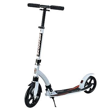 LJHBC Patinete Fácil de Plegar Pedal de Aluminio Adolescente ...