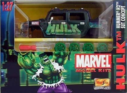 Marvel Maisto Model Kits Hulk Hummer H2 Sut Concept 1:27 ...