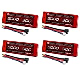 Venom 30C 2S 5000mAh 7.4V Hard Case LiPo Battery ROAR with Universal Plug (EC3/Deans/Traxxas/Tamiya) x4 Packs