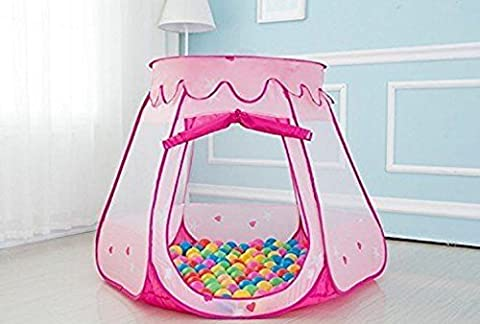 Kid Playhouse Tent Play Ball Outdoor Princess Castle Indoor Tunnel Up Pop With Balls - Folding Horse Stable Wood