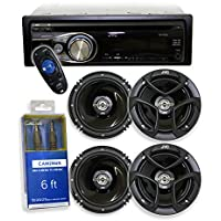 JVC KD-R330 CD Reciever/USB + 4) JVC CS-J620 6.5 (2 PAIRS) + FREE Audio Auxilary Cable