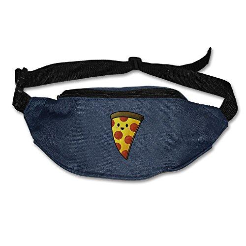 Junk Food Pizza Dancing Unisex Outdoors Fanny Pack Bag Belt Bag Waist Pack Sport Waist Pack Navy
