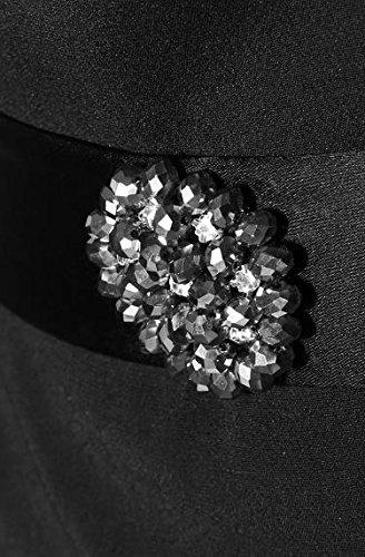 Daniel Hechter Damen Kleid Viskose Dress Unifarben, Größe: 40, Farbe: Schwarz