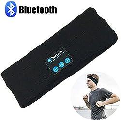 Bluetooth Music Headband, LC-dolida Wireless Bluetooth Stereo Headband Headphones Headset Earbuds Sport Running Yoga Sleeping Headband Black