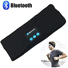 Bluetooth Music Headband, LC-dolida Wireless Bluetooth Stereo Headband Headphones Headset Earbuds Sport Running Yoga Sleeping Headband Black