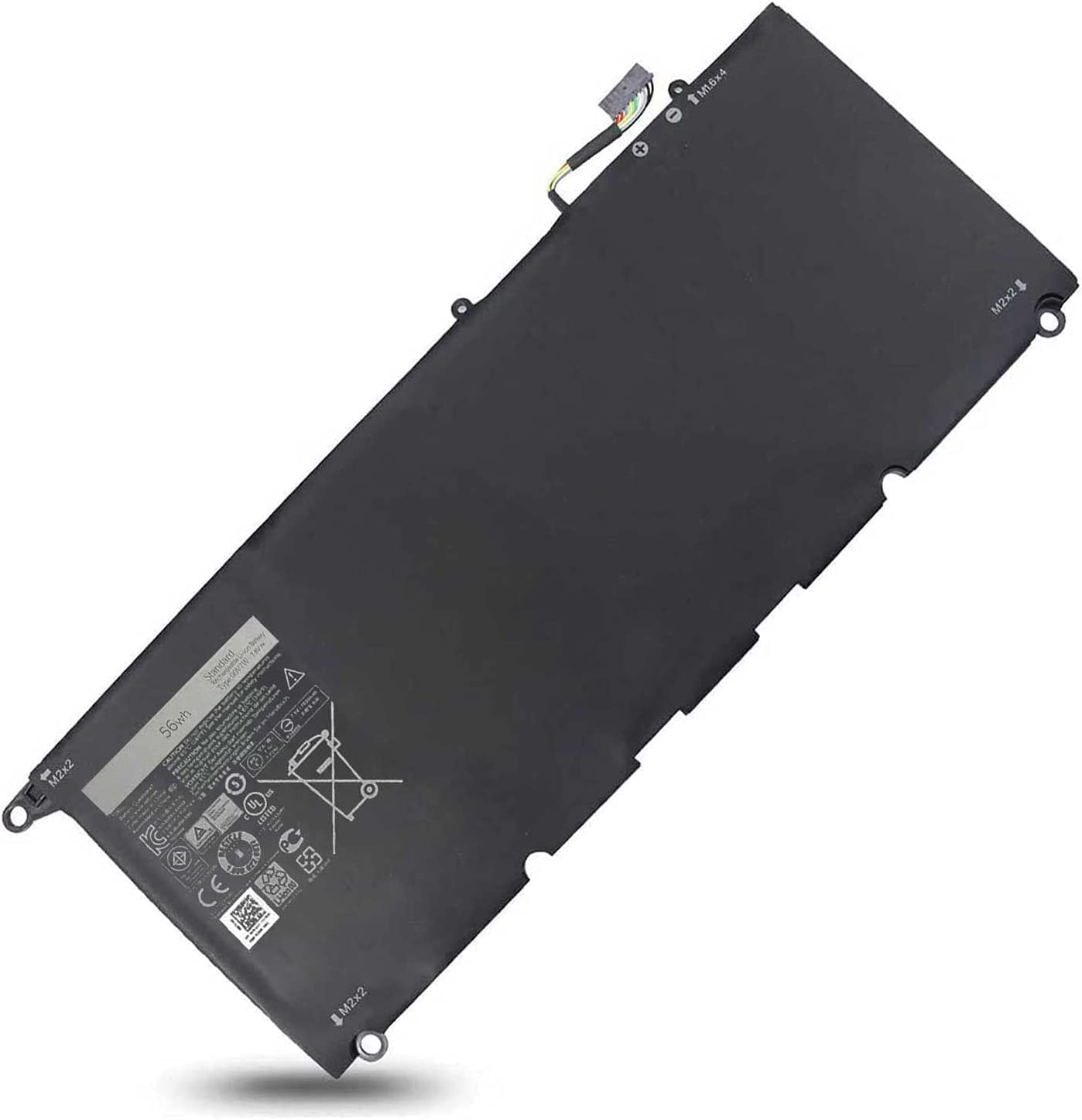 DELL 90V7W JD25G Laptop Battery for Dell XPS 13 9343 9350 Dell Battery for P54G P54G001 P54G002 13D 9343 13D-9343-1808T 13D-9343-350 13D-9343-3708 13-9350-D1708 13-9350-D1608 Notebook 7.6V 56Wh
