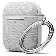 Spigen Urban Fit Compatible con Apple Airpods 1&2 Funda [luz LED Visible]- Gris