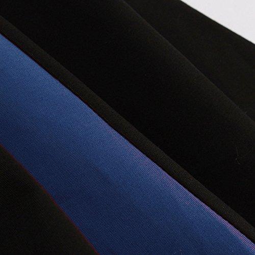 2 Retro años fiesta 50 amp; algodón Azul ud Rockabilly Fiesta x153; vkstar® Vestido Swing 1 Vestido n nbsp;con Otoño nbsp;manga Mujer baile en qFI78xt