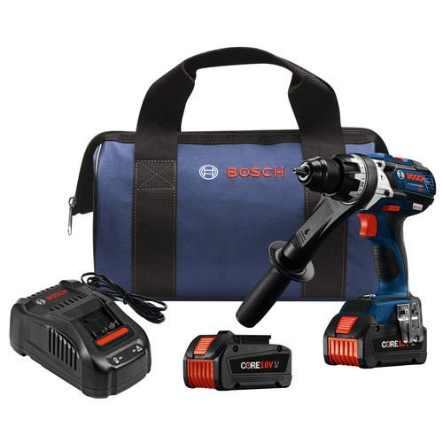 Bosch HDH183-B24 CORE18V Brushless Brute Tough Hammer Drill Driver with Two 6.3Ah FatPack Batteries