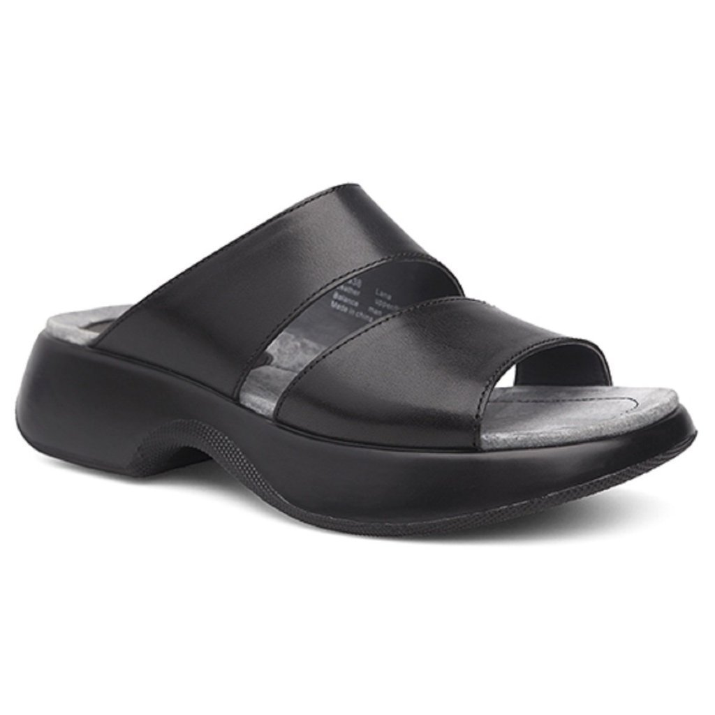Dansko Women's Lana Slide Sandal B07BQZTBHL 36 M EU Black (Full Grain)