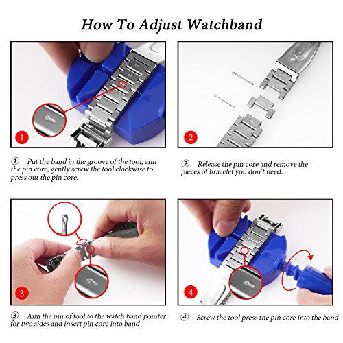 For Fitbit Alta HR Bands Adustable Replacement Steel Stainless Accessory Fitbit Alta Smartwatch Fitness Tracker Small large for Men & Women Alta Wristbans (Silver 1) by WOCOOL (Image #4)