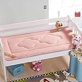 Nclon Kindergarten Baby Mattress Topper,Child Mattress Protector,Breathable Skin-friendly Soft Comfortable-pink 56100cm