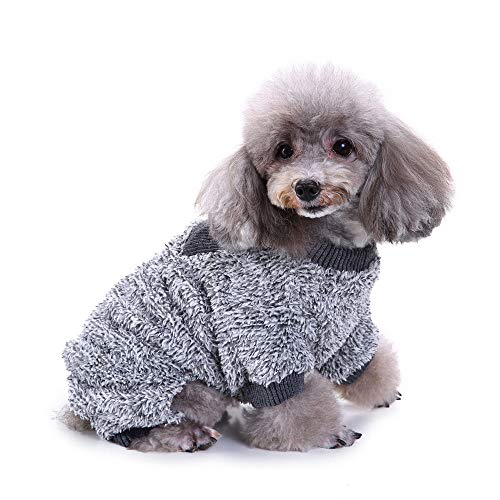 LowProfile Pet Jumpsuit, Puppy Dog Cat 4 Legs Plush Pajamas Winter Warm Dog Appeal