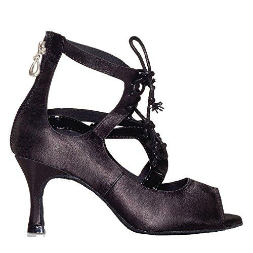 heel Miyoopark femme 7 5cm Blakc bal Salle de rOtxq0r