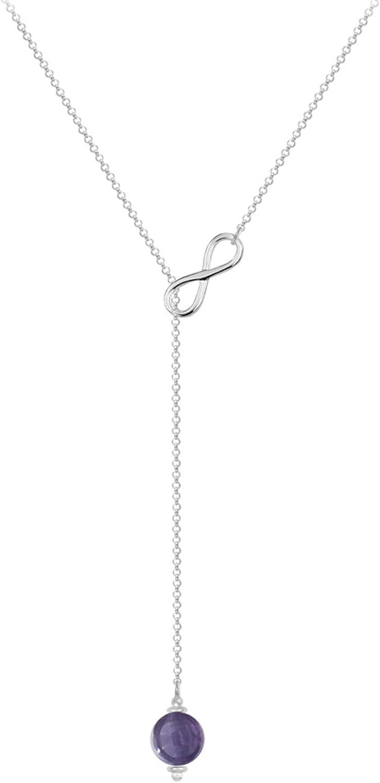 Collar corbata de plata 925 y amatista – Neuf: Amazon.es: Joyería