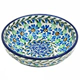 Polish Pottery 5'' Kitchen Prep Dip Bowl Handmade Boleslawiec Traditional Pattern B89- Daisy Dance