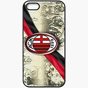 Personalized iPhone 5 5S Cell phone Case/Cover Skin AC Milan AC Milan Football Black