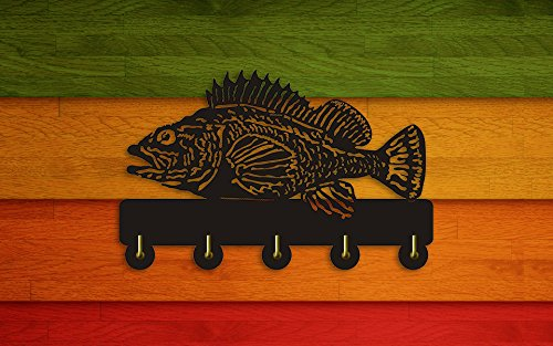 Rock Fish Shape Design Sea Animals Creative Wall Decor Art Wall Hooks Clothes Coat Towel Hooks Keys Holder Bathroom Kitchen Hanger Decor Hooks by The Geeky Days (Image #5)