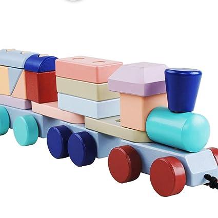 Amazon com: Pkjskh New Zealand Pine Block Train, Food Grade