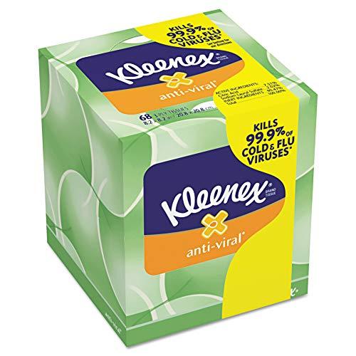 (Kleenex 25836CT Anti-Viral Facial Tissue, 3-Ply, 68 Sheets per Box (Case of 27 Boxes) )