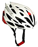 AWE AWESpeed FREE 5 YEAR CRASH REPLACEMENT* In Mould Adult Mens Road Racing Cycling Helmet 58-61cm White/Red