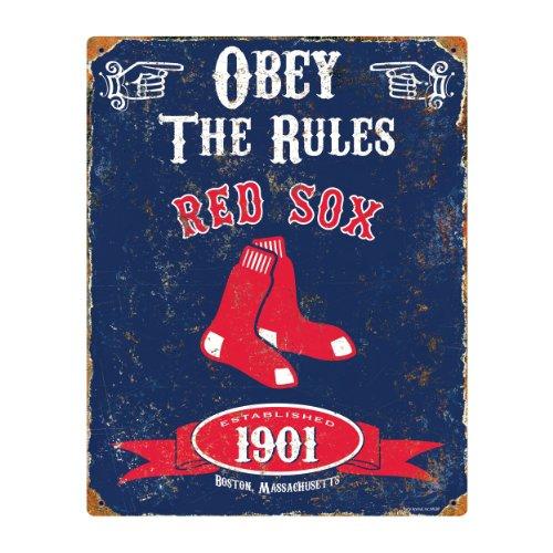 Party Animal MLB Embossed Metal Vintage Pub Signs,Boston Red Sox Boston Red Sox Metal