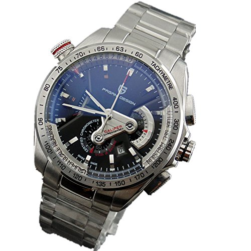 PAGANI Design 44mm black dial quartz Chronograph date mens watch 2047