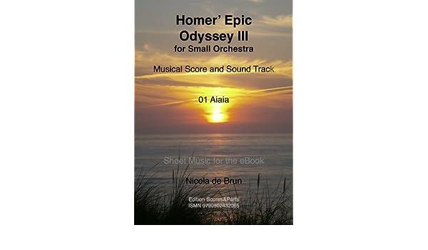01 Homers Epic Odyssey III, Aiaia (German Edition) eBook: Nicola de Brun: Amazon.es: Tienda Kindle