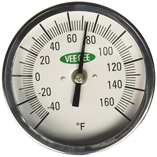 VEE GEE Scientific 82160-12 Dial Soil and Compost Testing Thermometer, -40 to 160 Degree F, 3