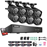 quick build ch - ANNKE Security Camera System with 8 CH 720P DVR and (8) Security Cameras Outdoor Weatherproof , 100ft Night Vision -IR Cut build in, Quick Remote Access via Smartphone--1TB HDD included