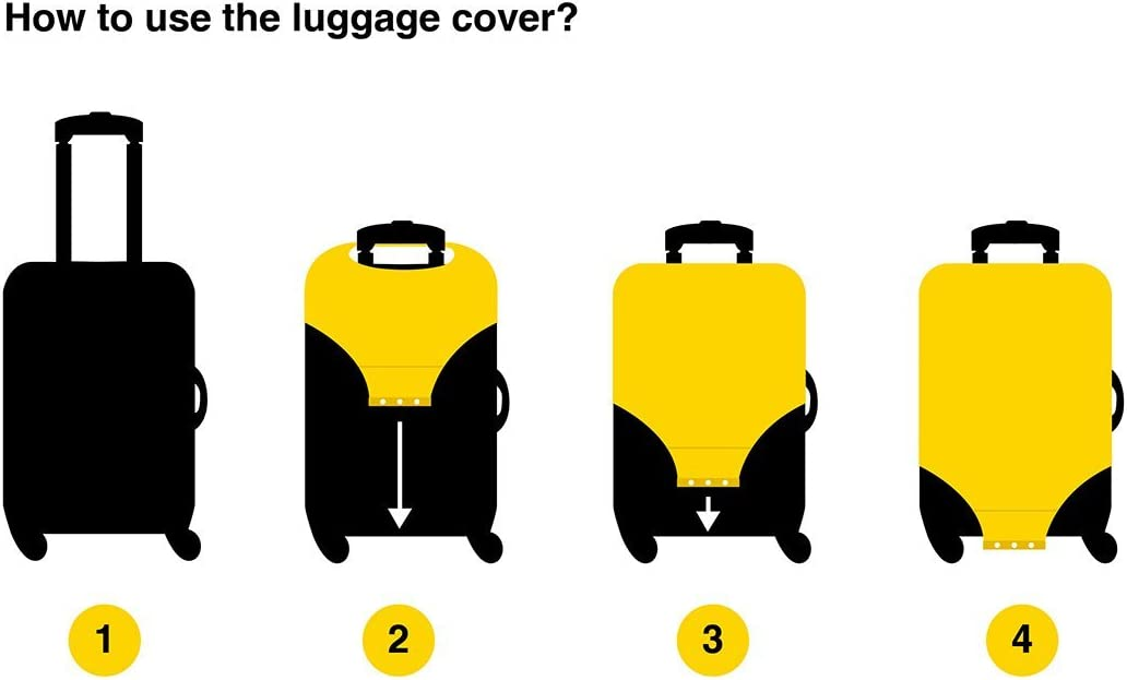 FANTAZIO Chakra Suitcase Protective Cover Spandex Travel Luggage Cover