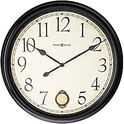 Howard Miller Glenwood Falls Gallery Wall Clock 625-444 - Oversized Black Satin with Quartz Movement