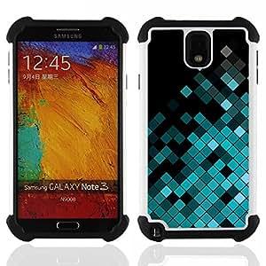 """Pulsar ( Patrón Polígono Disco Music Equalizer"""" ) Samsung Galaxy Note 3 III N9000 N9002 N9005 híbrida Heavy Duty Impact pesado deber de protección a los choques caso Carcasa de parachoques"""