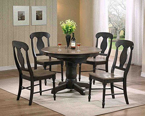 (Iconic Furniture W BS-RD42-W CH53-Grs-Bks  , 60, Gray Stone Black Stone)