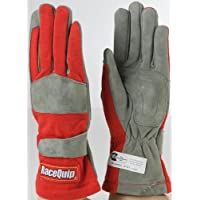 RaceQuip 351013 351 Series Medium Red SFI 3.3/1 One Layer Racing Gloves Size: Medium Color: Red, Model: 351013, Car & Vehicle Accessories / Parts