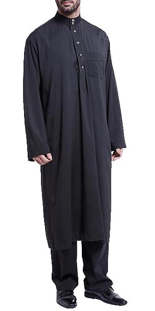 Amazon.com: fubotevic hombre Oriente Medio Traje árabe Abaya ...