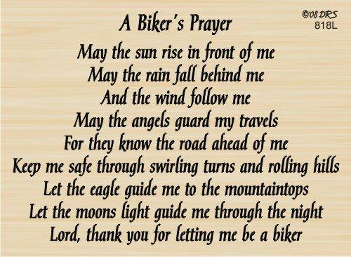 Biker's Prayer Rubber Stamp By DRS Designs