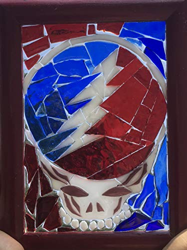 Stealie Stained Glass Grateful Dead Window Art Sun Catcher, Steelie by Mountain Mosaics (Image #2)