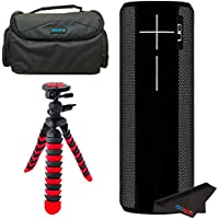 UE BOOM 2 Phantom Wireless Mobile Bluetooth Speaker (Waterproof and Shockproof) + Deluxe Carry Case + 12 Tripod
