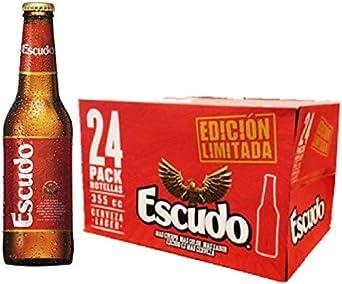 Cerveza Escudo 24 x 355 Ml (Pack 24 unidades): Amazon.es ...