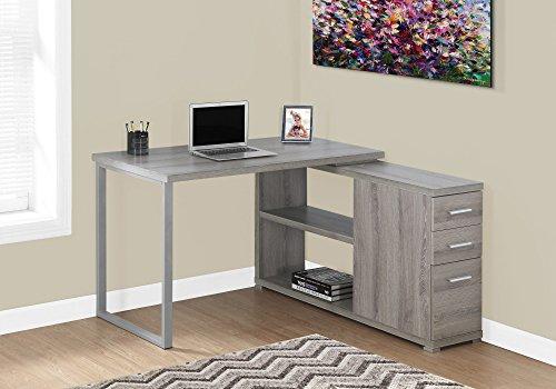 Monarch Left Or Right Facing Corner Computer Desk, Dark Taupe