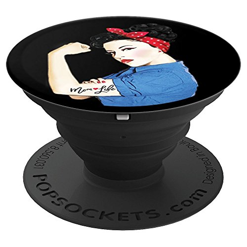 Mom Life Tattoo Heart Girl Power Pinup Retro Mommy - PopSockets Grip and Stand for Phones and Tablets