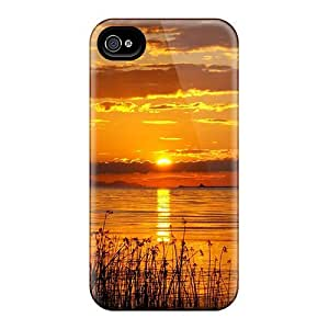 Anti-scratch And Shatterproof Half The Sun Phone Case For Iphone 4/4s/ High Quality Tpu Case